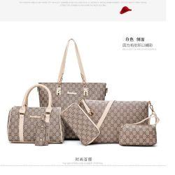 La Chine de gros sac de 6 pièces Lady Set femmes sac à main avec un sac à bandoulière+Bacs++d'embrayage Wallet+support de clés