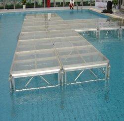 Aluminiumhochzeits-Glasstadiums-Dekoration-Beleuchtung-Binder-System