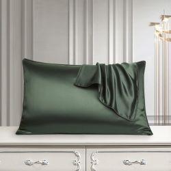 19mm natürlicher Maulbeere-Seide-Kissenbezug mit Umschlag-Schliessen für Haar und Haut