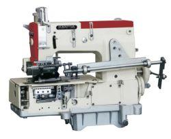 12-Flat-Bed Agulhas de costura de cadeia dupla com uma única máquina de costura pregueamento