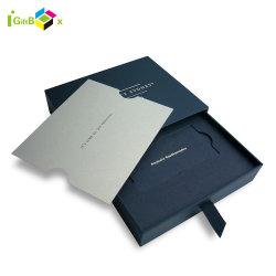 Alta calidad de diseño simple Cajón cubierta de la Tarjeta de presentación caja con cinta de opciones