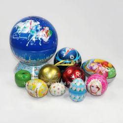 Envie d'impression OEM de Noël Boule d'étain pour cadeau en étain de chocolat peut