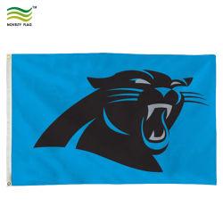 3*5FT スポーツチームロゴカスタムホールセール NFL カロライナ Panthers Flags (J-NF01F09039)