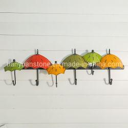 アマゾン鉄の芸術の傘の植木鉢の壁掛けのハードウェアの庭のカスタムクラフトを処理する吊り下げ式の金属製品