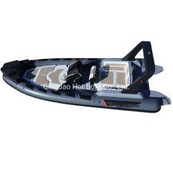 Nouveau modèle de 23,3 ft nervure de luxe Hypalon Inflatable La pêche de l'Aviron Bateau avec moteur de 200hp