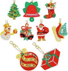 クリスマスの装飾のためのDIYのダイヤモンドの絵画Keychainsの装飾は、ホーム装飾によってカスタマイズされるデザイン受け入れる