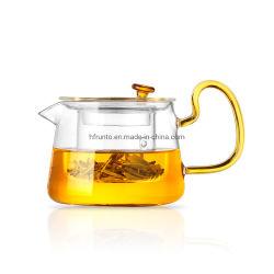 Il mini vetro di Boroslicate del POT dell'acqua dell'articolo da cucina ha fatto il filtro dal POT del tè dell'annata