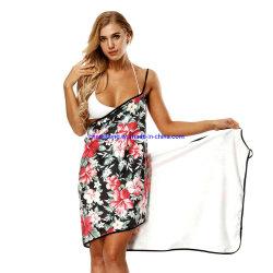 Hielo sólido sexy mujer Quick-Drying Seda toallas de baño portátil señora batas de baño toallas de la magia de la playa Las faldas de protección solar