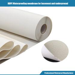 Pre-toegepast Hoog HDPE van het Polymeer Zelfklevend Waterdicht Materiaal