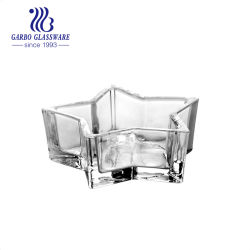 높은 백색 질 투명한 별 모양 봉헌 GB2222-4를 위한 유리제 촛대