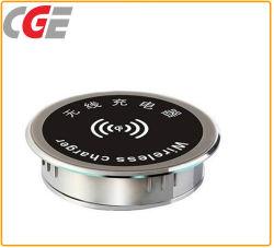 Inductivo incrustado Escritorio cargador inalámbrico para teléfonos Escritorio LED del cargador inalámbrico Lámpara de mesa