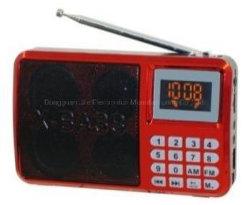 AM FM 라디오 스피커가 있는 휴대용 MP3 미니 플레이어