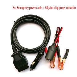 Het Geheugen van de Kabel van de Levering van de Macht van de Noodsituatie van ECU van het Voertuig van de Kabel OBD II van de auto bewaart Om het even welke 12V Krachtbron gelijkstroom van gelijkstroom 12V Lead-Acid Batterij