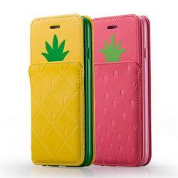 Accesorio del teléfono móvil, caso celular carpeta del cuero genuino para Samsung / iPad / iPhone