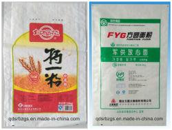 Imprimé en plastique coloré PP tissés Sac de farine d'emballage