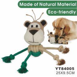 Cáñamo Natural perro de mascota mascotas juguetes interactivos de alimentación (YT84005)