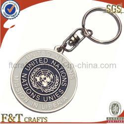 Metallo su ordinazione Keychain/anello portachiavi della moneta/catena chiave dello smalto (FTKC1693)