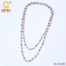 Diseño de joyas de moda mayorista Collar de perlas largo