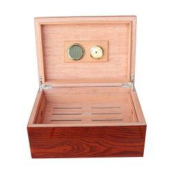 Finition Piano Ashtree Boîte à cigares d'artisanat en bois