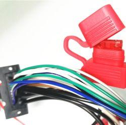 Mazo de cables de audio del coche con el conjunto de cables portafusibles en línea
