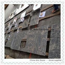 China Ola de Oro de mármol de la vena/ encimera de granito para cocina