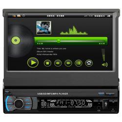 Intrekbaar en afneembaar paneel 1 DIN-speler voor in de auto MP5-audiospeler
