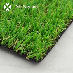 Realistisches künstliches Gras-synthetischer Rasen-Rasen-Teppich für Haus