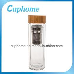 Alta bottiglia di acqua di Borosillicate Glass con Bamboo Lid