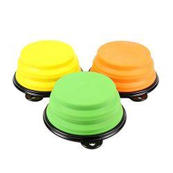 シリコーンペットアクセサリのシリコーン犬の皿円形ペット送り装置ボール