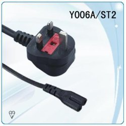 Bs Plug UL Cordon d'alimentation de l'Angleterre Y006A/ST2
