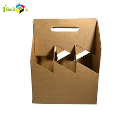 Caja de vino de papel portátil Craft