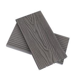 중국 공장 도매가 양각 우드 그레인 WPC 복합 플라스틱 바닥재 방수 목재 플라스틱 합성 WPC 데크 보드