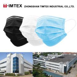 Timtex 도매 짠것이 아닌 부직포 3ply 방어적인 처분할 수 있는 먼지 Facial 3개 가닥 가면