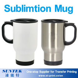 Impressão por sublimação de carro de plástico Cup Travel caneca