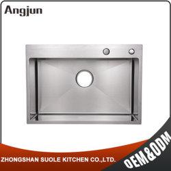 6045 cm único artesanales personalizados de recipiente de acero inoxidable Fregadero