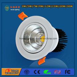 IP20 90LM/W 5W em alumínio de alta potência LED sabugo para Baixo da Luz do Refletor do Teto para o parque de diversões