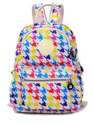 Nieuw In De Schijnwerpers Mixed Colour Fashion Style Double Shoulder Bag Leisure Nylon Waterproof Fabric School Rugzak (3) Zh-Bbk103