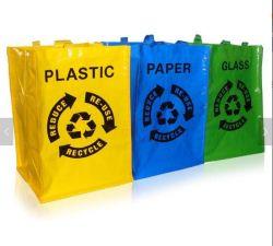 PP recyclé sac tissé pour l'emballage plastifié sac à ordures tissé