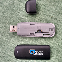 De geopende Draadloze Dongle van de Modem van Huawei E173 USB 3G (de Download 2100MHz, 7.2Mbps van WCDMA)