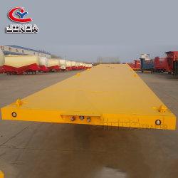 China 2 Eixo 3 Eixo 50ton 60ton 20FT 40FT Recipiente do Utilitário de Ligação chassis/Cama Plana/estrado semi reboque para venda