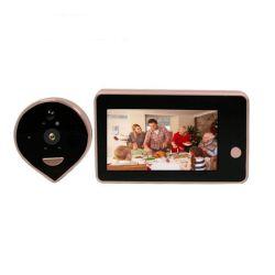 Timbre inalámbrico de intercomunicación de la cámara de la puerta de mirilla teléfono con pantalla HD