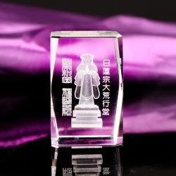 3D Decoratie van de Ambachten van de Kubus van het Glas van het Kristal van de Gravure van de Laser