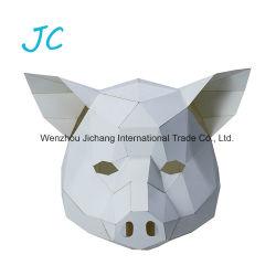 Nice populaires blanc noir rouge en forme de cochon papier 3D Parti Masque de papier de bricolage