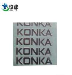 Ultra-Thin Bright Gold En Silver Letters Patch Stickers Custom Metal Mirror Up Plating Label