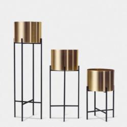 Personnaliser le métal Stand Flowerpot Pot de fleurs avec support pour la décoration