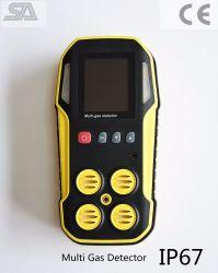 Water-Proof Multi 4 detector de gas para el CH4/Lel, H2S, CO y O2 con sensores de Reino Unido, IP67