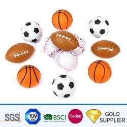 中国メーカー、カスタム PU フォームスポーツスモールバスケットボールベースボールを大量生産 ラグビーテニスバレーボールの「 Squeeze Stress Ball for Promotion 」がある