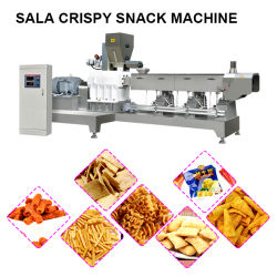 Les machines automatiques de nourriture de friture Crisp Croustillante Ligne de traitement de la Salade de pommes de terre Chips Making Machine fournisseur salade automatique machine des aliments de collation