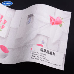 Bestes verkaufenkorn-Muster-Wand-Dekoration-Papier des Stroh-3D