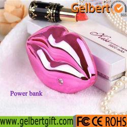 Портативное зарядное устройство USB милая поцелуй губы с RoHS